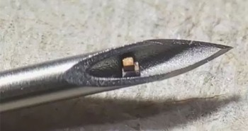 Đây là con chip siêu nhỏ nằm gọn trong kim tiêm, dùng để theo dõi bên trong cơ thể