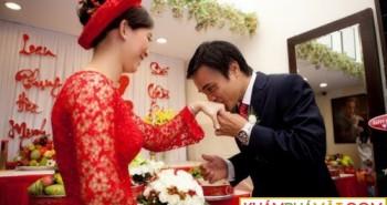 Tổ chức lễ ăn hỏi và đón dâu cùng ngày